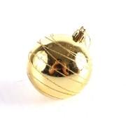 Bola de Natal Decorada 7cm Dourada - 8 Unidades