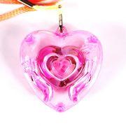 Colar Pisca Coração Transparente - Unidade