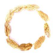 Coroa Grega Folhas Douradas