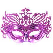 Máscara Veneziana Luxo Roxa