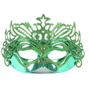 Máscara Veneziana Luxo Verde