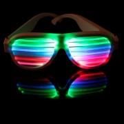 Óculos Pisca Led Branco Ativado por Som e Música