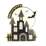 Painel Decorativo Castelo Halloween Neon