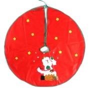 Saia para Árvore de Natal Vermelha com Estampa Papai Noel