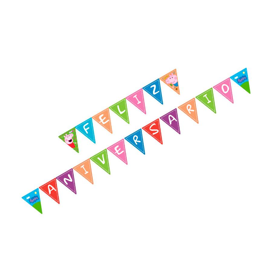 Faixa Feliz Aniversario Peppa