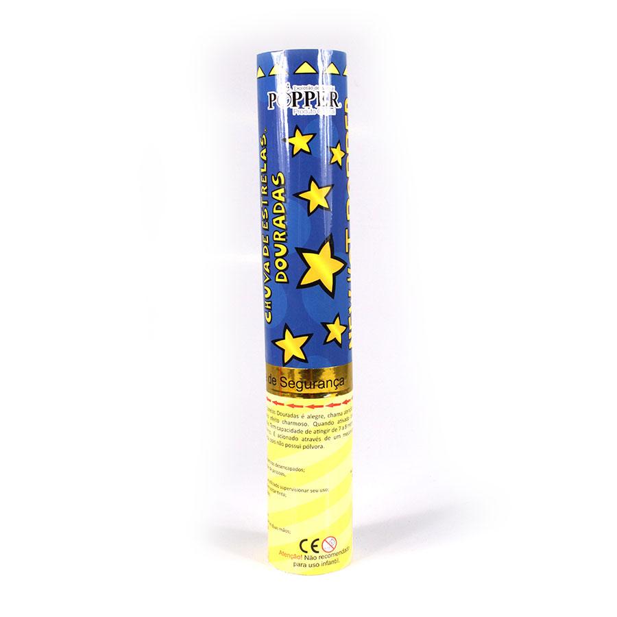 Lança Confete Popper Estrelas Douradas