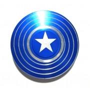Hand Spinner de Metal Escudo América Azul - Rolamento Anti Estresse Fidget Hand Spinner
