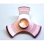 Hand Spinner de Metal Liso Rosa - Rolamento Anti Estresse Fidget Hand Spinner