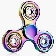 Hand Spinner Metal Colorido Argola - Rolamento Anti Estresse Fidget Hand Spinner