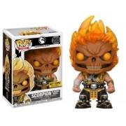 Pop Scorpion (Flaming Skull): Mortal Kombat X #255 - Funko