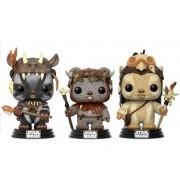 POP Star Wars: Ewok 3 Pack - Teebo, Chirpa, Logray  Exclusivo.