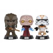 POP Star Wars: Tarfful, Emperador palpatine e Utapau Clone Trooper #3 Exclusivo Pack com 3 Pop Funko (Apenas Venda Online)
