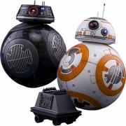 PRÉ VENDA: Boneco BB-8 e BB-9E: Star Wars Os Últimos Jedi (The Last Jedi) Escala 1/6 - Hot Toys