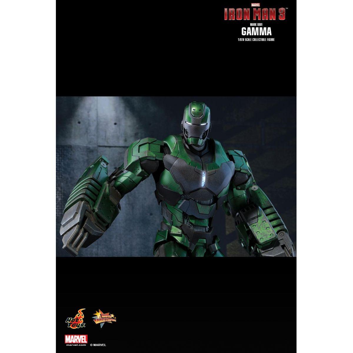 Boneco Iron Man Mark XXVI Gamma: Homem de Ferro 3 (Iron Man 3) Exclusive Escala 1/6 - Hot Toys