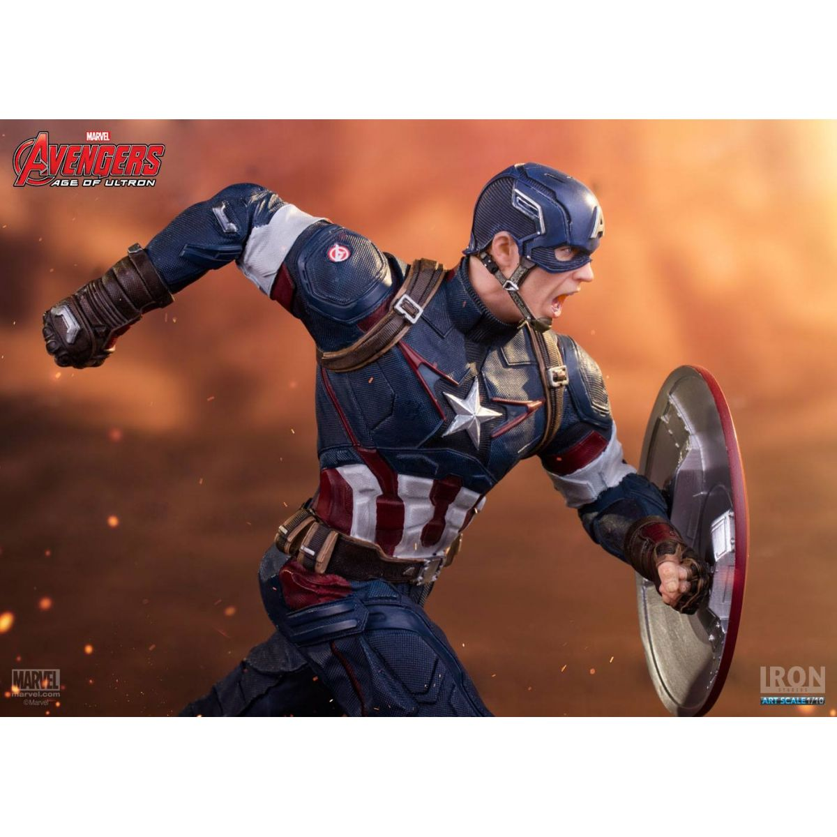 Capitão América Age Of Ultron Art Scale 1/10 - Iron Studios