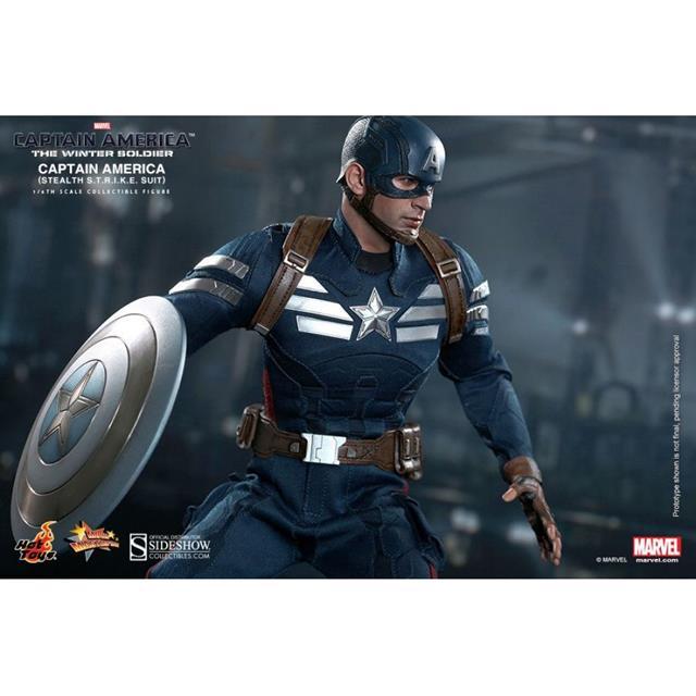 Boneco Capitão América (Stealth STRIKE Suit): Capitão América 2: O Soldado Invernal (The Winter Soldier) Escala 1/6 - Hot Toys
