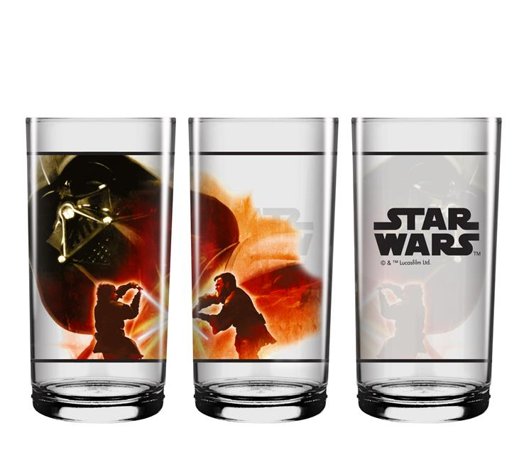 Conjunto Copo Long Drink Cenas Star Wars - NF