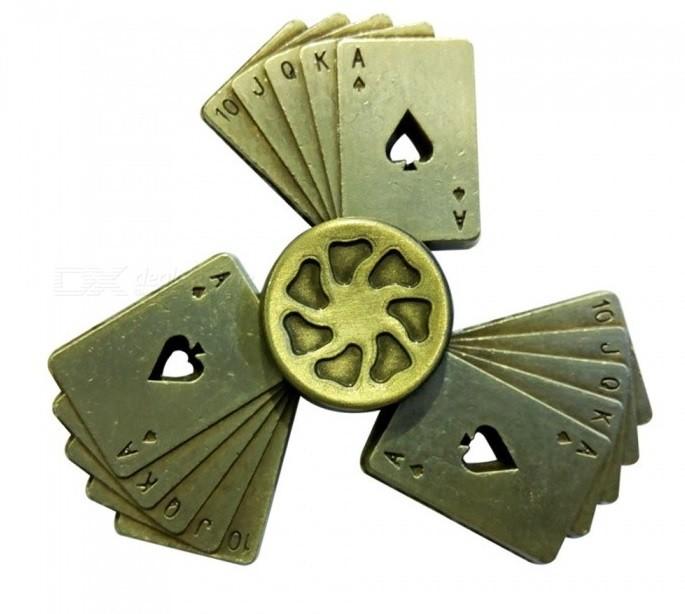 Hand Spinner Cartas de Poker - Rolamento Anti Estresse Fidget Hand Spinner