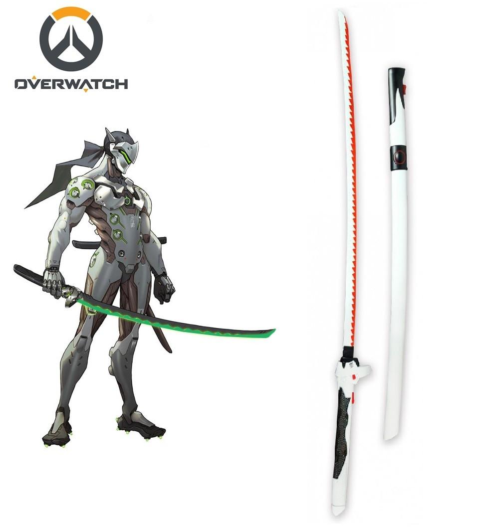 Espada Genji Katana: Overwatch Branca e Vermelha Espada 105cm