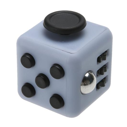Fidget Cube Spinner Cinza com Preto - Rolamento Anti Estresse Fidget Cube Spinner