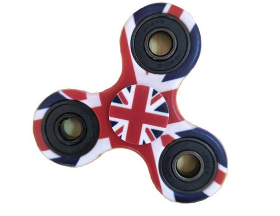 Hand Spinner Bandeira da Inglaterra - Rolamento Anti Estresse Fidget Hand Spinner