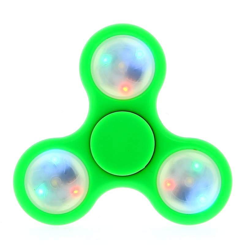 Hand Spinner com LED Verde / SORTIDO Rolamento Anti Estresse Fidget Hand Spinner