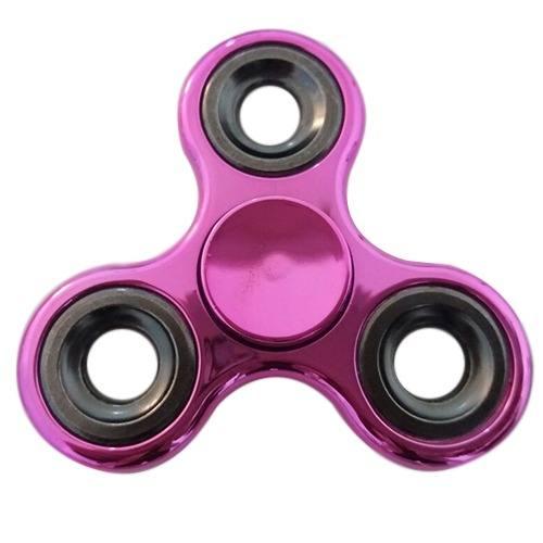 Hand Spinner Cromado Pink - METAL - MEGA ROTAÇÃO