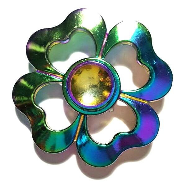 Hand Spinner de Metal Colorido 4 Corações - Rolamento Anti Estresse Fidget Hand Spinner