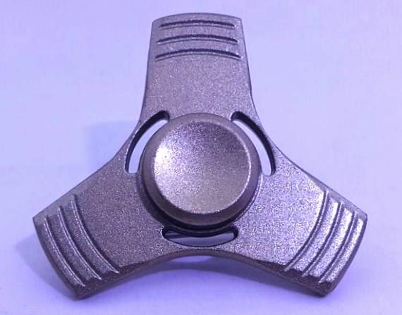 Hand Spinner de Metal Liso Bronze com furo - Rolamento Anti Estresse Fidget Hand Spinner