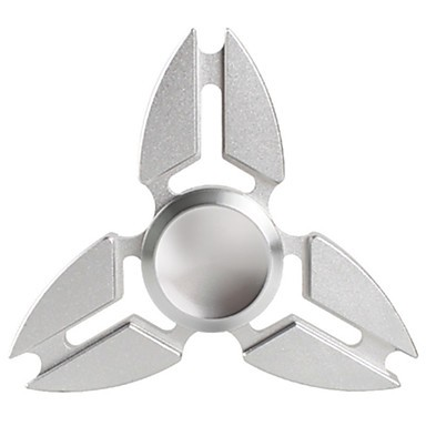 Hand Spinner de Metal Prata - Rolamento Anti Estresse Fidget Hand Spinner
