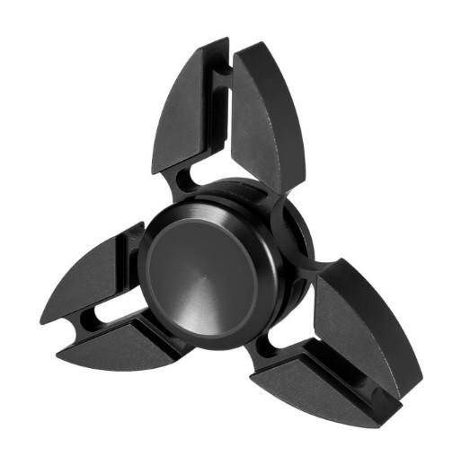 Hand Spinner de Metal Preto - Rolamento Anti Estresse Fidget Hand Spinner