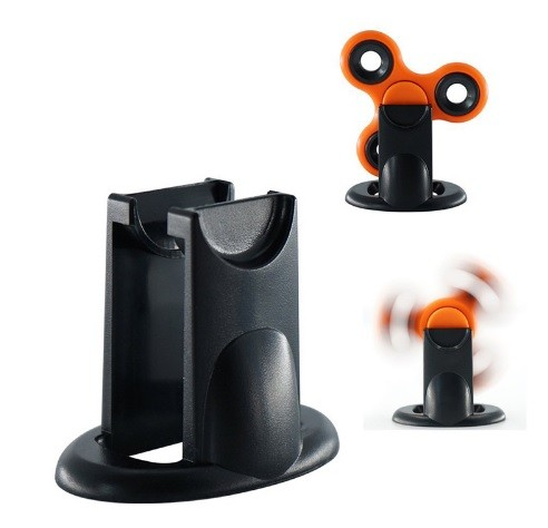 Hand Spinner Holder (Suporte) Preto - Rolamento Anti Estresse Fidget Hand Spinner