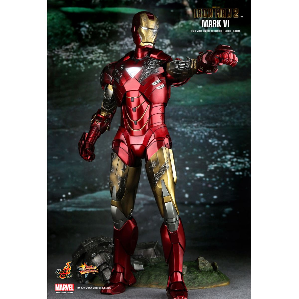 Iron Man 2 (Homem de Ferro) Mark VI Escala 1/6 - Hot Toys
