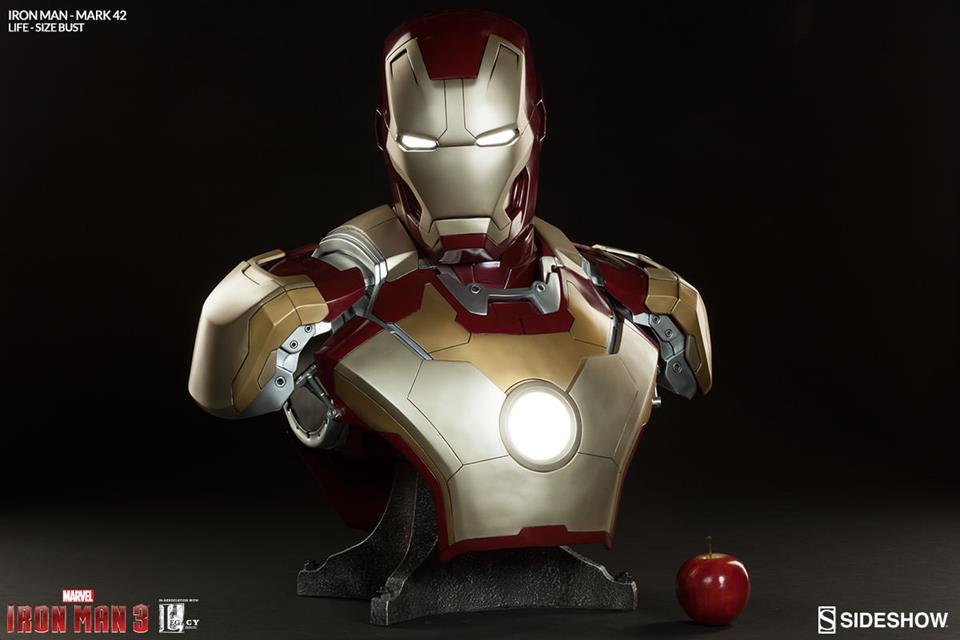 Iron Man 3 Life-Size Iron Man Mark 42 (Busto) - Sideshow