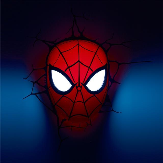 Luminária  Máscara Homem Aranha - 3D Light FX