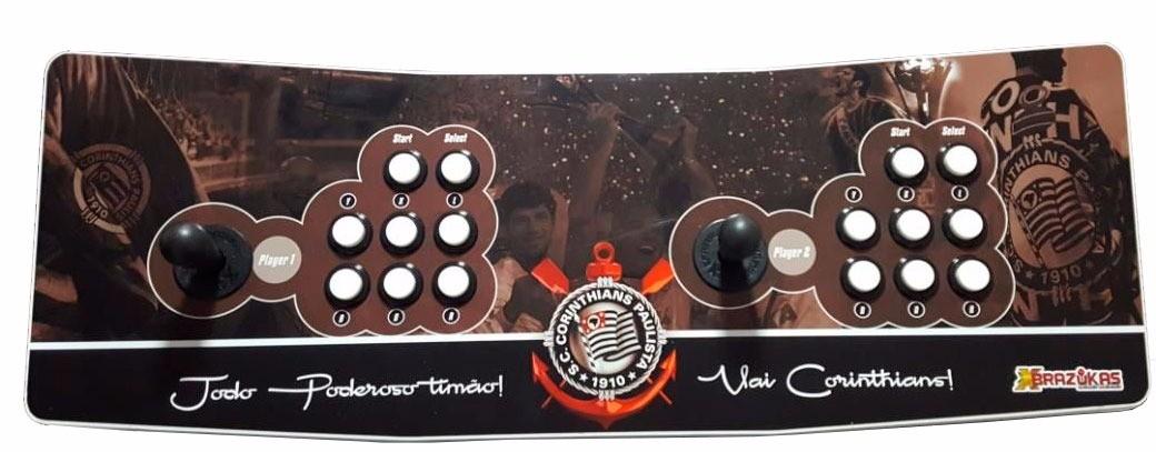 Máquina Fliperama (Controle Duplo Arcade) com desenho do Corinthians