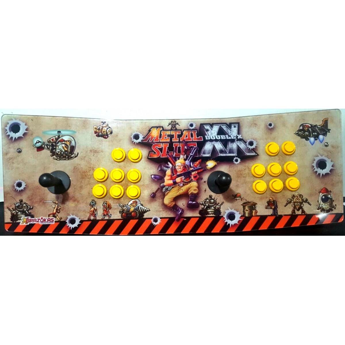 Máquina Fliperama (Controle Duplo Arcade) com desenho do Metal Slug
