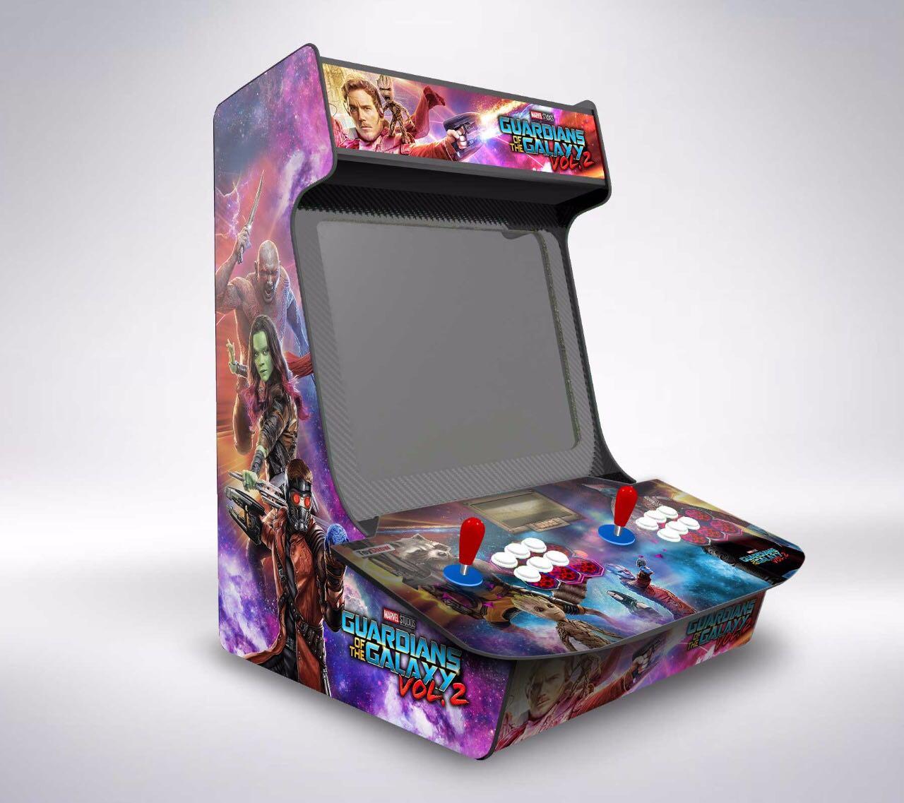 Máquina Fliperama (Controle Duplo Arcade) com Tela e desenho do Guardiões da Galáxia