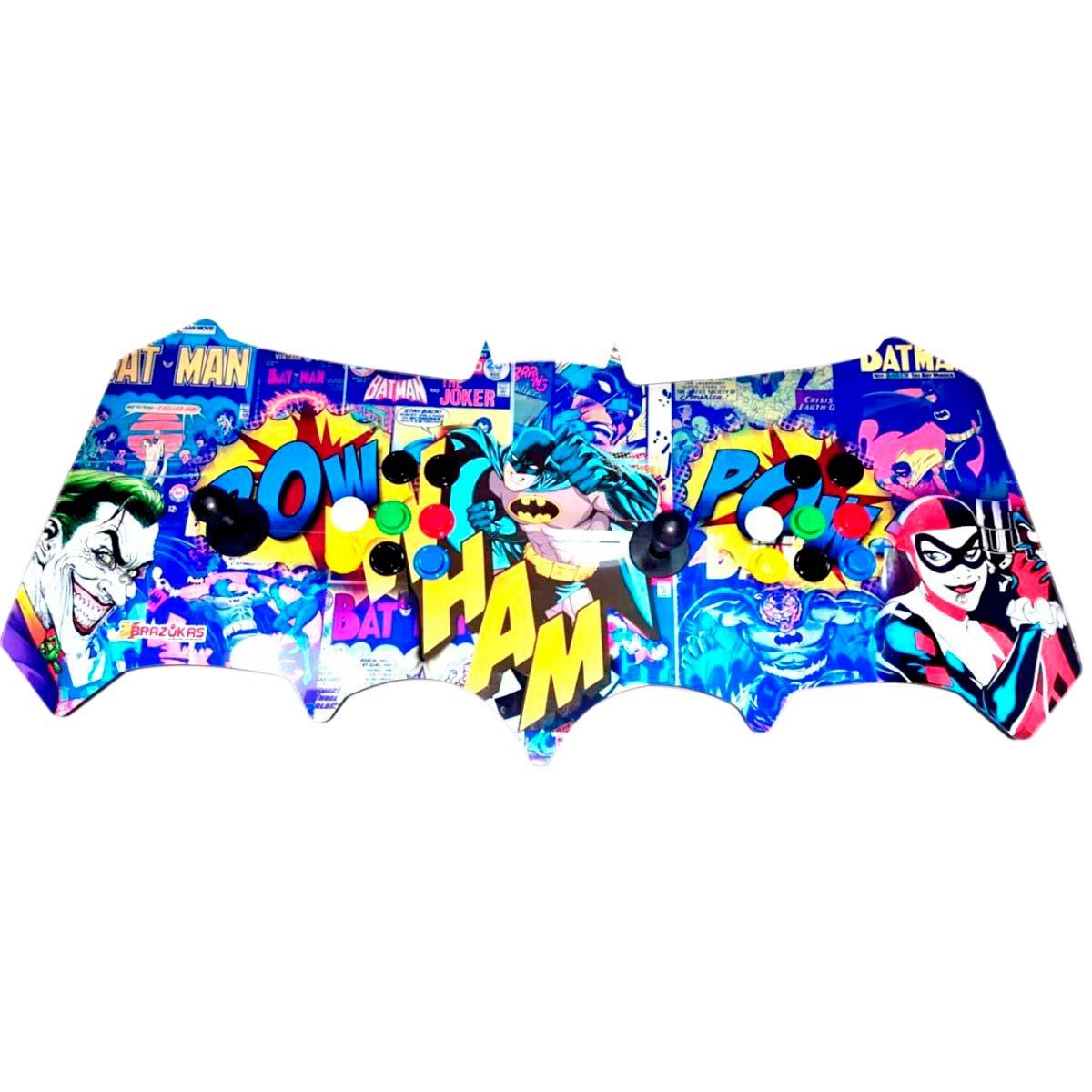 Máquina Fliperama (Controle Duplo Arcade) Personalizado com desenho do Batman / Coringa / Harley Quinn