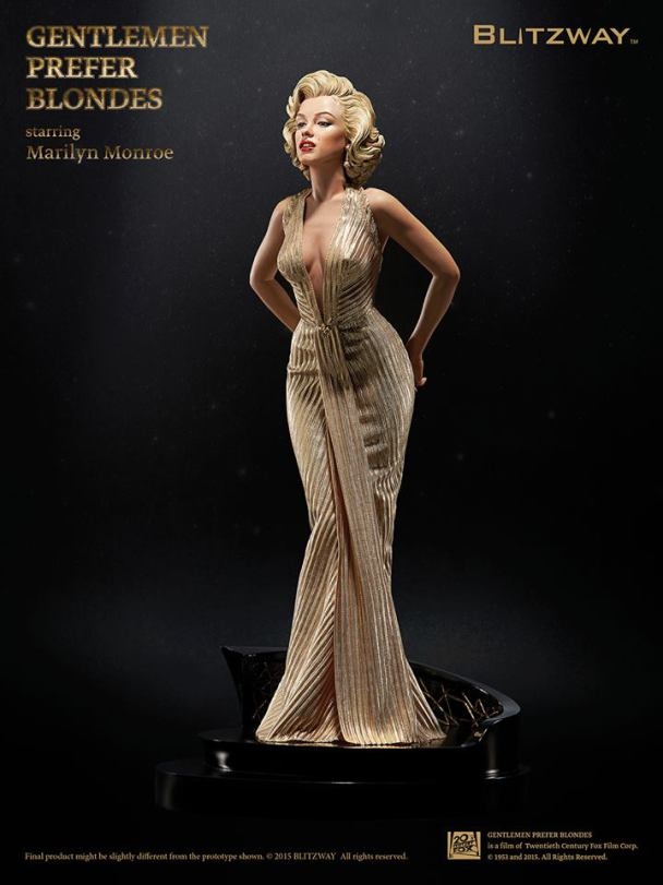 Marilyn Monroe Gentlemen Prefer Blondes 1953 Estátua Escala 1/4 - Blitzway