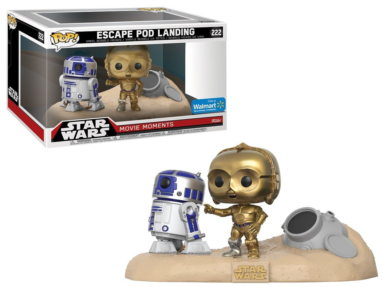 Pop! Escape Pod Landing: Star Wars (Movie Moments) Exclusivo #222 - Funko