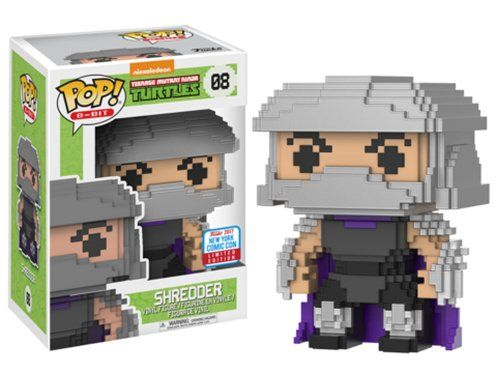 Pop! Shredder (Destruidor): Tartarugas Ninjas (8 Bit) (Exclusivo) #08  - Funko