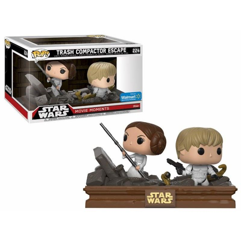 Pop! Trash Compactor Escape: Star Wars (Movie Moments) Exclusivo #224 - Funko