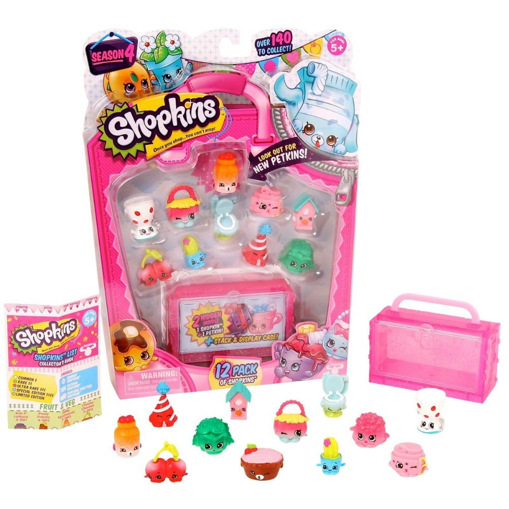 Kit com 12 Shopkins Sortidos Series 4 - DTC