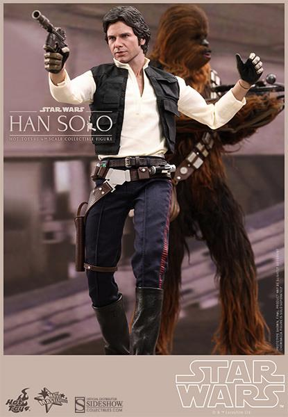 Star Wars Movie Masterpiece Han Solo & Chewbacca Escala 1/6 - Hot Toys