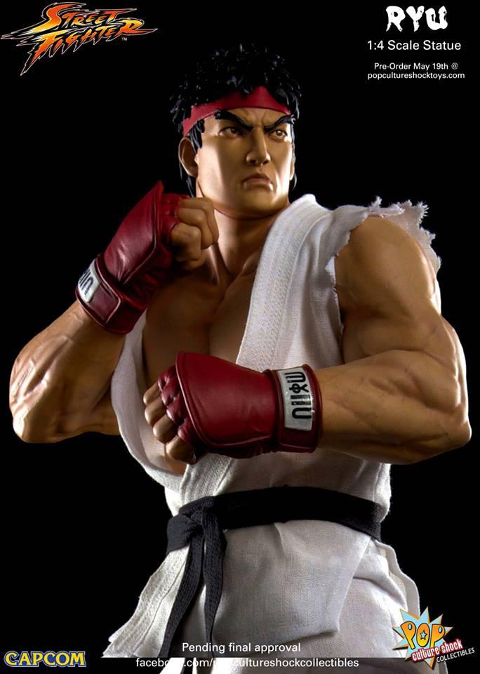 Street Fighter: Ryu Estátua Escala 1/4 - Pop Culture Shock (Produto Exposto)