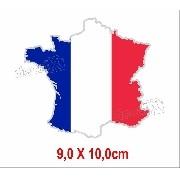Adesivo Citroen Bandeira France Resinado Res5
