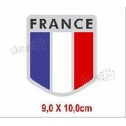 Adesivo Citroen Bandeira France Resinado Res6