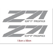 Par Adesivos Z71 Off Road Chevrolet Em Cinza Ofrz71c