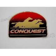 Adesivo Emblema Conquest Silverado Dir. Resinado Dx0103